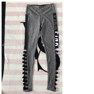 PINK Victoria's Secret Pants - VS Pink Gray High Waist Ultimate Strappy Legging